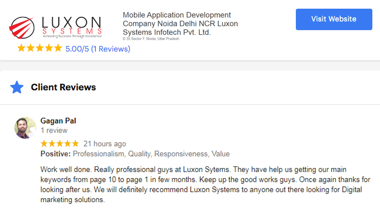 client review foduu webdesign company